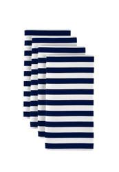 "Navy Blue Small Stripes Milliken Signature Napkins 18""x18"" 1 Dozen"