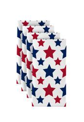 "American Stars Red & Blue Milliken Signature Napkins 18""x18"" 1 Dozen"