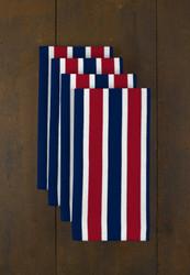 """Red & Blue Stripes  Milliken Signature Napkins 18""""x18"""" 1 Dozen"""
