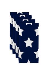 "Freedom Stars Navy  Milliken Signature Napkins 18""x18"" 1 Dozen"