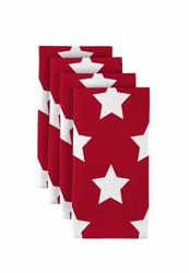 """Freedom Stars Red  Milliken Signature Napkins 18""""x18"""" 1 Dozen"""