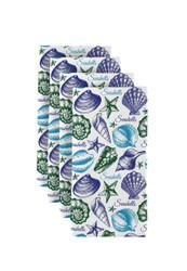 "Seashells Blue Milliken Signature Napkins 18""x18"" 1 Dozen"