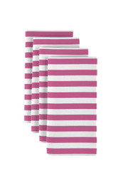 "Pink Small Stripes Milliken Signature Napkins 18""x18"" 1 Dozen"