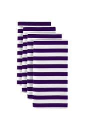 "Purple Small Stripes Milliken Signature Napkins 18""x18"" 1 Dozen"