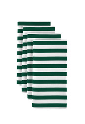 "Green Small Stripes Milliken Signature Napkins 18""x18"" 1 Dozen"