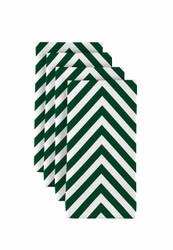 """Green Chevron Milliken Signature Napkins 18""""x18"""" 1 Dozen"""