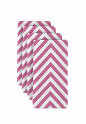 "Pink Chevron Milliken Signature Napkins 18""x18"" 1 Dozen"