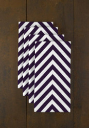 "Purple Chevron Milliken Signature Napkins 18""x18"" 1 Dozen"