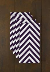 "Purple Chevron Milliken Signature Napkins 18""x18"" 1 Dozen"