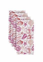 "Seashells Coral Milliken Signature Napkins 18""x18"" 1 Dozen"