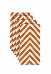 "Orange Chevron Milliken Signature Napkins 18""x18"" 1 Dozen"