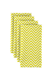 "Yellow Chevron Milliken Signature Napkins 18""x18"" 1 Dozen"