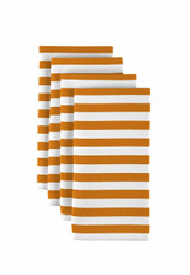 "Orange Small Stripes Milliken Signature Napkins 18""x18"" 1 Dozen"