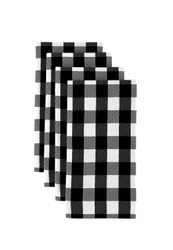 """Black Picnic Check Milliken Signature Napkins 18""""x18"""" 1 Dozen"""