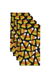 "Candy Corn Black Milliken Signature Napkins 18""x18"" 1 Dozen"