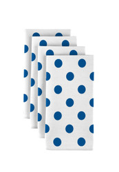 "Royal Blue Dots Milliken Signature Napkins 18""x18"" 1 Dozen"