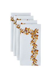 "Fall Foliage Border Milliken Signature Napkins 18""x18"" 1 Dozen"