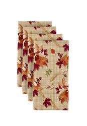 """Autumn Centerpiece Milliken Signature Napkins 18""""x18"""" 1 Dozen"""