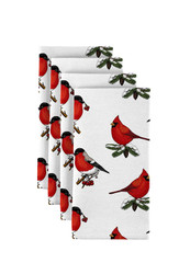 "Christmas Cardinals Milliken Signature Napkins 18""x18"" 1 Dozen"