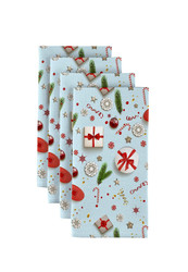 "Christmas Confetti Milliken Signature Napkins 18""x18"" 1 Dozen"