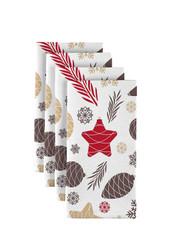 "Christmas Pines & Cones Milliken Signature Napkins 18""x18"" 1 Dozen"