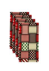 "Christmas Quilt Milliken Signature Napkins 18""x18"" 1 Dozen"