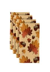 "Fall Maple Leaves Signature Napkins 18""x18"" 1 Dozen"