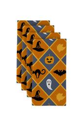 """Halloween Argyle Signature Napkins 18""""x18"""" 1 Dozen"""