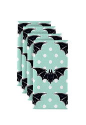 "Halloween Bats & Dots Signature Napkins 18""x18"" 1 Dozen"