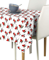 Christmas Cardinals Milliken Signature Rectangle Tablecloths