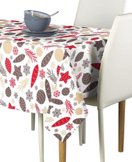 Christmas Pines & Cones Milliken Signature Rectangle Tablecloths