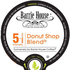 Barrie House Donut Shop Blend Coffee Single Serve Cups