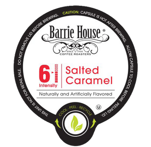 Barrie House Salted Caramel Flavored Coffee Single Serve Cups