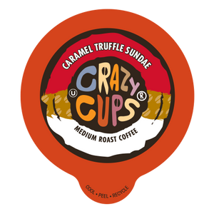 Crazy Cups Caramel Truffle Sandae Flavored Coffee Single Serve Cups