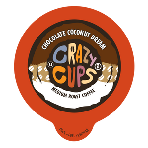 Crazy Cups Chocolate Coconut Dream Flavored Coffee Single Serve Cups