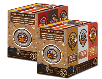 Crazy Cups Chocolate Lovers and Flavored Coffee Variety Pack, 48 Count