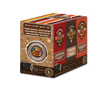 Crazy cups Chocolate Lovers' Flavored Coffee Single serve cups Variety Pack