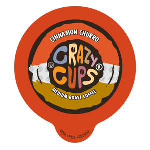 Crazy Cups Cinnamon Churro Flavored Coffee Single Serve Cups