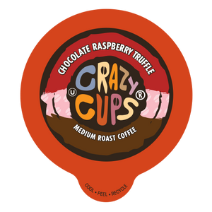 Crazy Cups Chocolate Raspberry Truffle Flavored Coffee Single Serve Cups