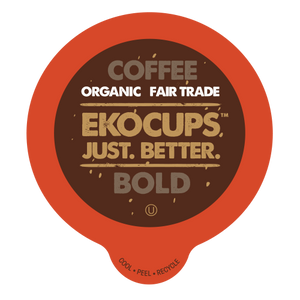 EKOCUPS Bold Coffee Recyclable organic fair trade Single Serve Cups