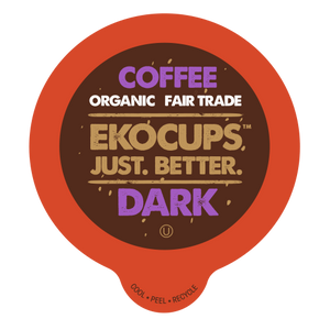EKOCUPS Dark Coffee Recyclable organic fair trade Single Serve Cups