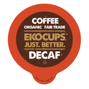EKOCUPS Decaf Coffee Recyclable organic fair trade Single Serve Cups
