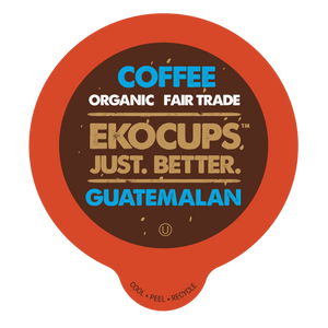 EKOCUPS Guatamalen Coffee Recyclable organic fair trade Single Serve Cups