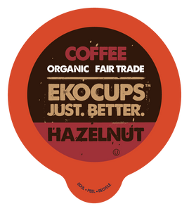 EKOCUPS Hazelnut Coffee Recyclable organic fair trade Single Serve Cups