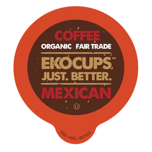 EKOCUPS Mexiacn Coffee Recyclable organic fair trade Single Serve Cups