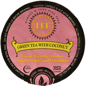 Harney & Sons Green Tea With Coconut Tea Single Serve Cups