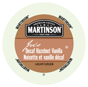 Martinson Joe's Decaf Hazelnut Creme Single Serve Cups