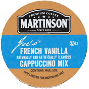 Martinson Joe's French Vanilla Cappuccino Mix Single Serve Cups
