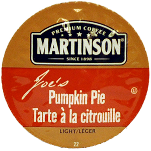 Martinsons Joe's Pumpkin Pie Flavored Coffee Single Serve Cups