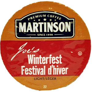 Martinsons Joe's Winterfest Flavored Coffee Single Serve Cups
